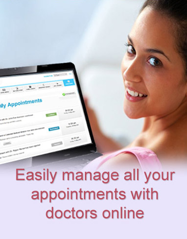Easily manage all your appointments with doctors online